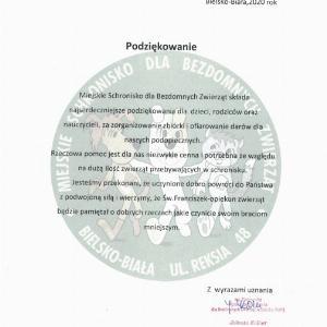 """Obrazek newsa KOLEJNE PODZIĘKOWANIA OD SCHRONISKA """"REKSIO""""!"""