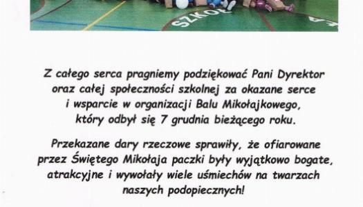 """Obrazek newsa PODZIĘKOWANIA OD STOWARZYSZENIA """"TRAMPOLINA"""""""